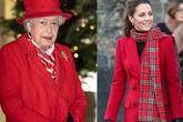 Cùng diện đồ đỏ xuất hiện trước công chúng, Nữ hoàng Anh và Công nương Kate ghi điểm mạnh bởi thần thái sang trọng, quyền lực