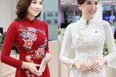 MC Mai Ngọc mặc áo dài lên sóng truyền hình ngày đặc biệt, khiến người ta nhớ đến hình ảnh cô dâu xinh đẹp 4 năm trước