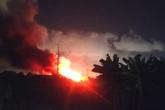 Hải Phòng: Cháy lớn tại một xưởng gỗ nội thất