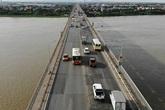 Chính thức cấm các phương tiện trên tầng 2 cầu Thăng Long từ ngày 8/8