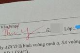 """Thấy học trò điền thiếu tên trong bài kiểm tra, giáo viên vội ra tay giúp đỡ nhưng cách viết khiến trò chỉ muốn """"độn thổ"""""""