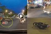 Tìm thấy tài xế ô tô gây tai nạn liên hoàn với 7 xe máy rồi bỏ chạy ở Long Biên