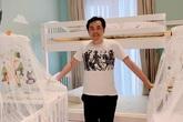 Vợ chồng Dương Khắc Linh dọn phòng chuẩn bị đón con
