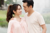 Vợ  trẻ đẹp của Dương Khắc Linh khoe cận cảnh bụng bầu mang song thai, tiết lộ lý do giữ kín tin vui suốt 4 tháng