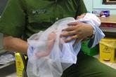 Hà Nội: Bé trai sơ sinh bị mẹ bỏ rơi ngoài cánh đồng trong đêm tối được công an chăm sóc
