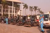 Hàng trăm cán bộ, chiến sĩ, công nhân ra quân bảo vệ môi trường, trật tự ATGT tại quận Nam Từ Liêm (Hà Nội)