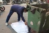 Cơ quan công an thông tin về vụ thai nhi vứt cạnh thùng rác bị ô tô cán qua ở Hà Nội