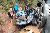 2 người bị chấn thương sọ não trong vụ ô tô biển xanh va chạm xe bồn ở Sơn La