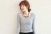 Điệu đà với mốt áo len nữ Hàn Quốc mùa thu