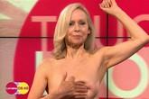 Sốc với màn khoe ngực trần táo bạo trên truyền hình