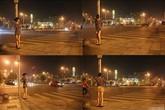 Choáng với cô gái nghiện... chụp ảnh khỏa thân trên đường phố