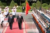 Chủ tịch nước chủ trì lễ đón Tổng thống Liên bang Nga