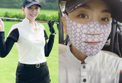 Ra sân đánh golf đâu chỉ giữ dáng, Mai Ngọc tranh thủ nâng cơ mặt với món làm đẹp độc