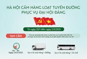 Hà Nội cấm những tuyến đường nào trong dịp Đại hội Đảng?