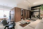 Căn hộ giấu kín bếp và phòng khách sau hệ cửa gỗ