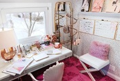 20 thiết kế phòng làm việc cực nữ tính và duyên dáng tại nhà