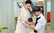 Lê Thúy tăng 4 kg, xinh đẹp trong váy cưới do Đỗ Mạnh Cường thiết kế riêng