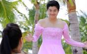 Chồng Nhật Kim Anh mặc váy cưới cầu hôn vợ