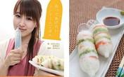 Đầu bếp Nhật làm món ăn với... bao cao su
