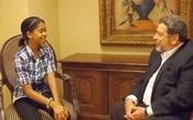 Bé gái 11 tuổi phỏng vấn 14 nguyên thủ quốc gia