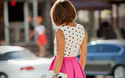Chân váy xòe xếp ly bồng bềnh cho bạn gái ngày hè