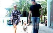 Vợ chồng Đoan Trang hào hứng tập đi cho con gái