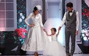 Con gái Huy Khánh tự tin catwalk cùng bố mẹ