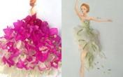 Nữ sinh Lâm Đồng có tài thiết kế thời trang từ hoa
