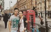 Vợ chồng MC Anh Tuấn ngọt ngào ở London