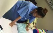 Khánh Thi đau đớn tập đi từng bước trong bệnh viện
