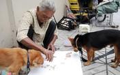 Cụ bà gốc Campuchia sống trên vỉa hè cùng hai con chó