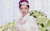 Quỳnh Chi rạng rỡ với váy cưới sau ồn ào hôn nhân