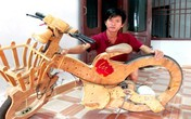 Chế xe đạp điện không săm từ ván ép, đồ cũ