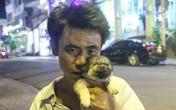 Chuyện cảm động đằng sau bức ảnh chú chó trong chiếc giỏ của cậu bé đánh giày