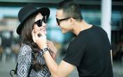 Lương Thế Thành tình cảm thân mật với Thúy Diễm ở sân bay