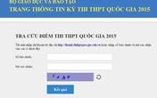 Tra cứu điểm thi THPT Quốc gia 2015 tại đây