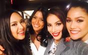 Phạm Hương đẹp rạng rỡ đọ sắc cùng các thí sinh Hoa hậu Hoàn vũ 2015