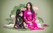 Áo dài hoa sen rạng rỡ, Huỳnh Bích Phương tái xuất bên Hoa hậu Thùy Dung
