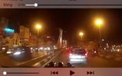 """Tài xế taxi """"điên"""" gây tai nạn trên cầu vượt Thái Hà chở vợ con khi bỏ chạy?"""