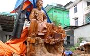 Chiêm ngưỡng bức tượng Nguyễn Du bằng gỗ lớn nhất Việt Nam