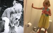 Câu chuyện buồn phía sau bức ảnh bé gái đứng trong nhà vệ sinh