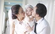Con gái Trang Nhung ngộ nghĩnh khi chụp ảnh cưới cùng bố mẹ