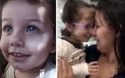 Rơi lệ khoảnh khắc bé gái mù 2 tuổi òa khóc khi lần đầu tiên nhìn thấy mẹ