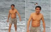 Chủ tịch thị xã Cửa Lò xuống tắm biển cùng khách du lịch