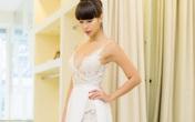 Siêu mẫu Hà Anh hé lộ váy cưới sexy trước thềm hôn lễ