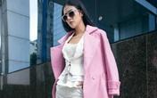 Những cách phối áo măng tô mới nhất của HH Ngọc Hân nàng công sở không nên bỏ qua