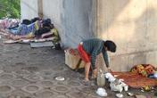 Hình ảnh thê thảm của 2 người đàn ông vô gia cư dưới gầm cầu Vĩnh Tuy