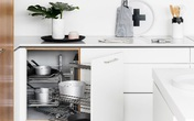 Cách nhân đôi không gian chứa đồ trong bếp