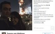 """Đôi nam nữ """"gây bão"""" vì selfie bên khách sạn Dubai bốc cháy"""