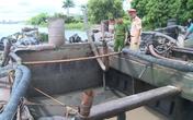 Hải Phòng: Bắt giữ 3 tàu cát tặc trên sông Lạch Tray